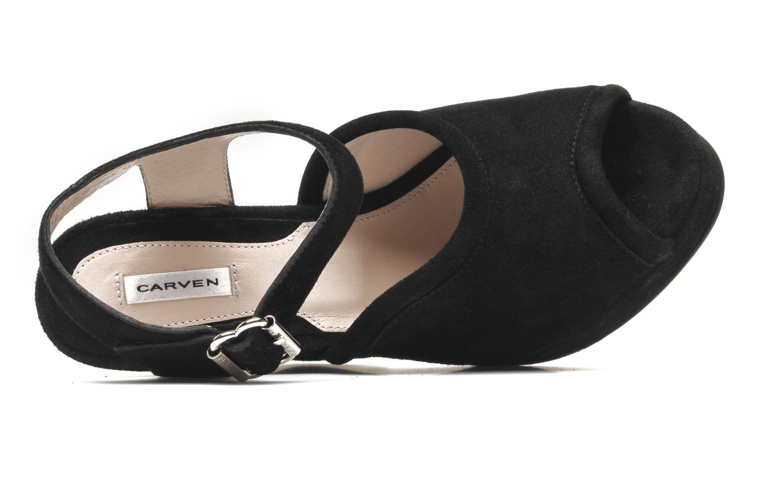 Sandals Carven Gabrielly Black view from the left