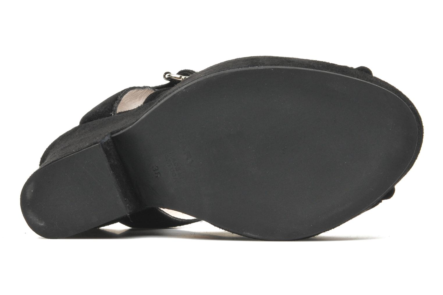 Sandals Carven Gabrielly Black view from above