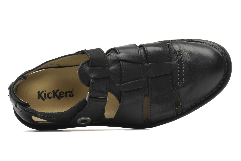 Sandalias Kickers Vidal Negro vista lateral izquierda