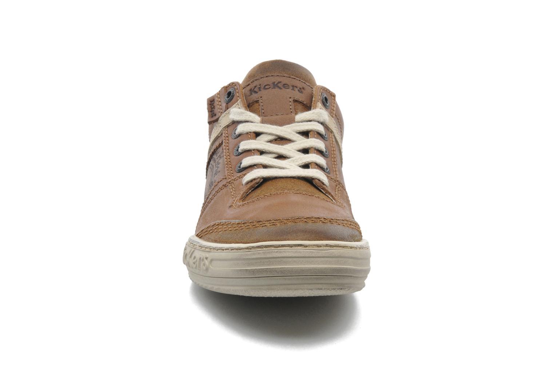 Baskets Kickers Jexplore Marron vue portées chaussures