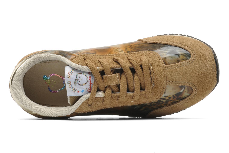 Sneaker Shoo Pom RUNNY LACE beige ansicht von links