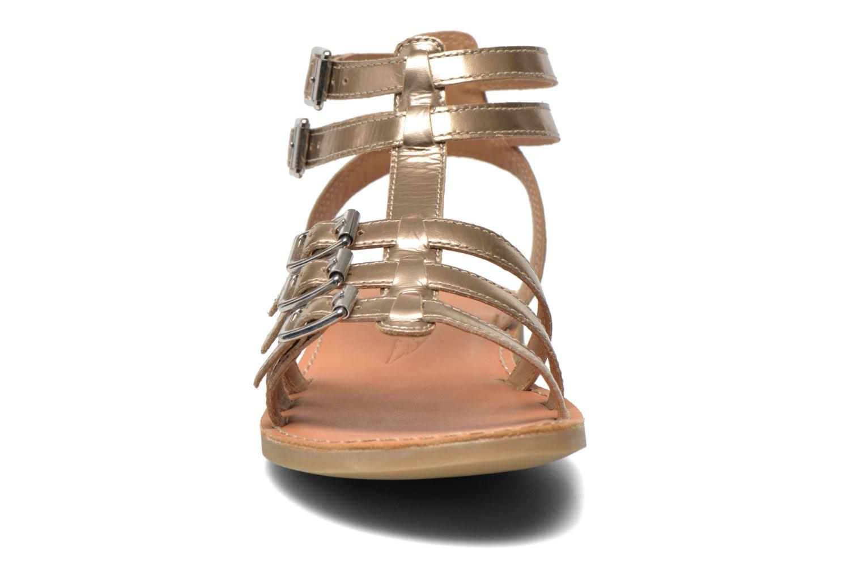 Sandales et nu-pieds Shwik LAZAR BUCKLES Or et bronze vue portées chaussures