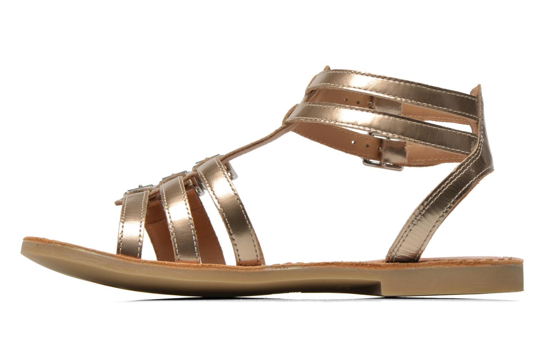 Sandals Shwik LAZAR BUCKLES Bronze and Gold front view