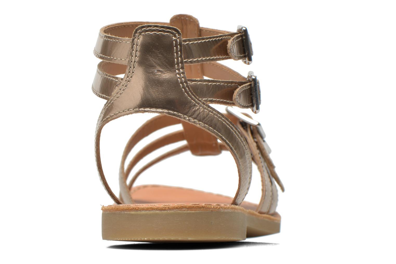 Sandales et nu-pieds Shwik LAZAR BUCKLES Or et bronze vue droite