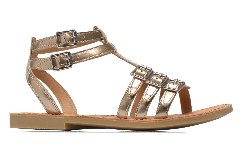 Sandals Shwik LAZAR BUCKLES Bronze and Gold back view
