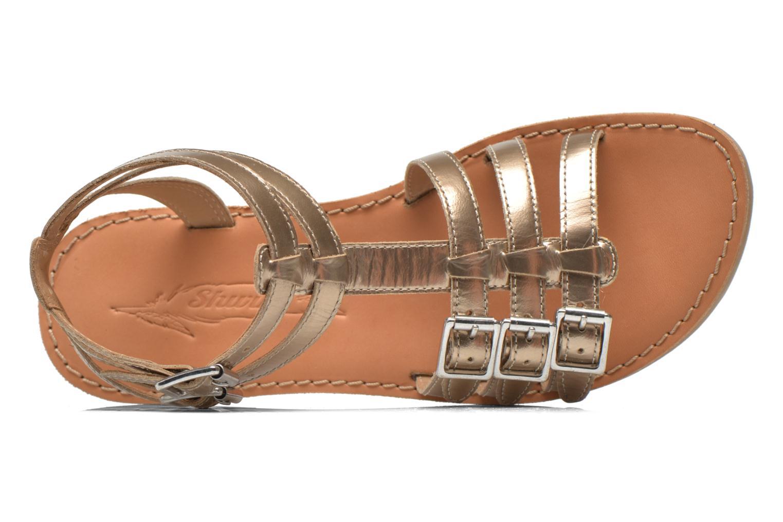 Sandales et nu-pieds Shwik LAZAR BUCKLES Or et bronze vue gauche