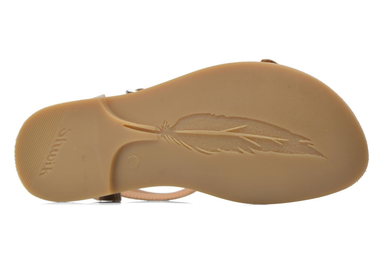 Sandales et nu-pieds Shwik LAZAR BUCKLES Or et bronze vue haut