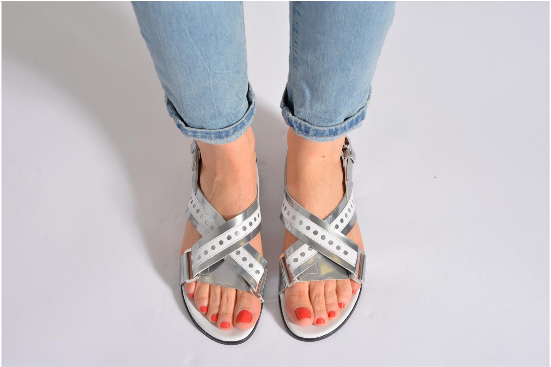 Sandales et nu-pieds Rebecca Balducci Garda Argent vue bas / vue portée sac