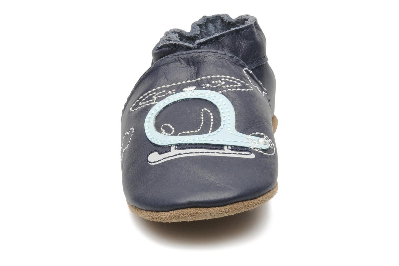 Chaussons Robeez Pilot Owen Bleu vue portées chaussures