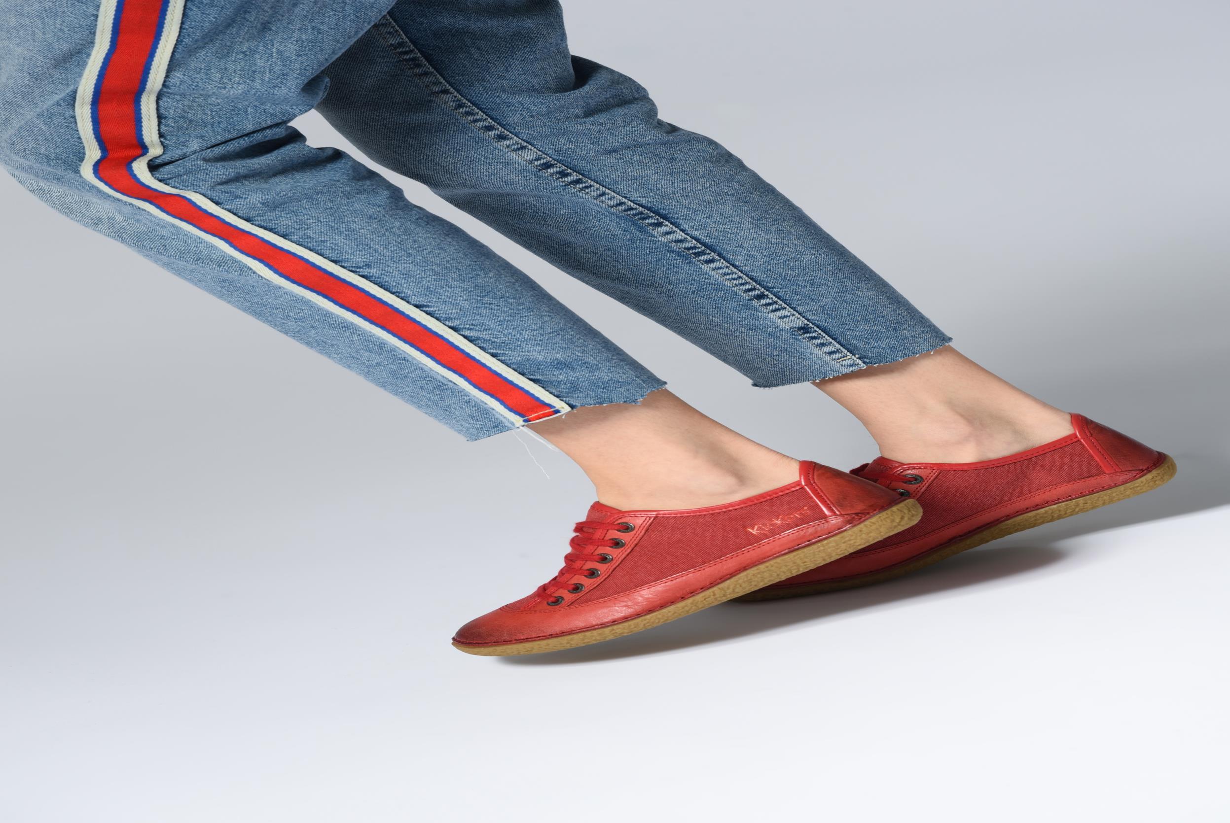Chaussures à lacets Kickers Hollyday Bleu vue bas / vue portée sac