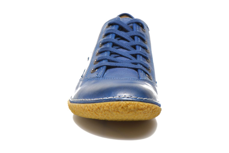 Schnürschuhe Kickers Hollyday blau schuhe getragen