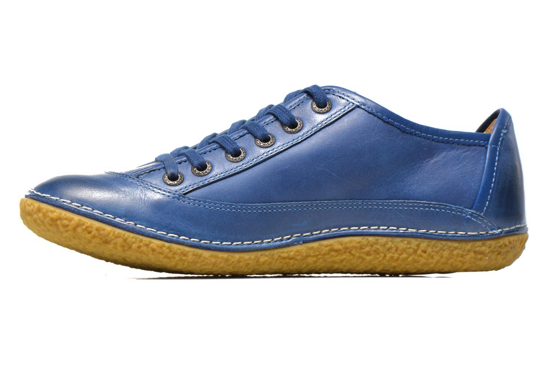 Schnürschuhe Kickers Hollyday blau ansicht von vorne