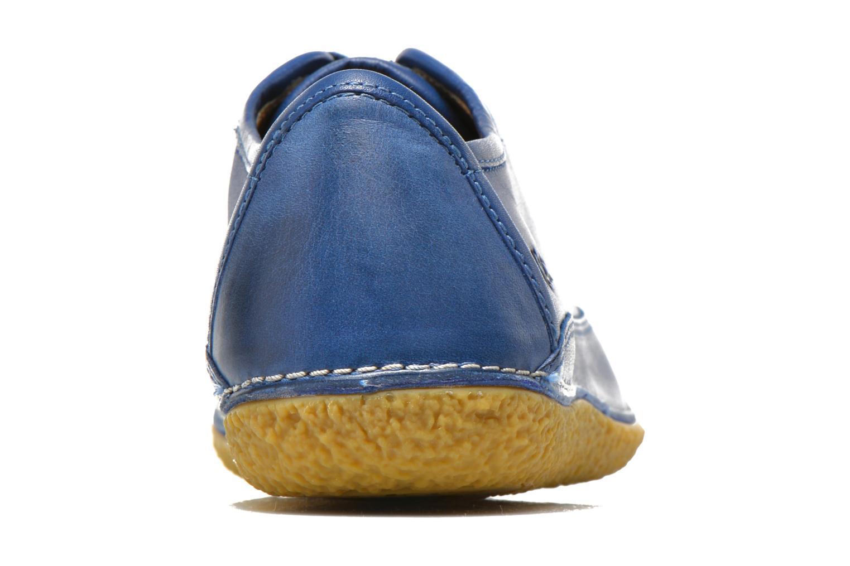 Snörade skor Kickers Hollyday Blå Bild från höger sidan