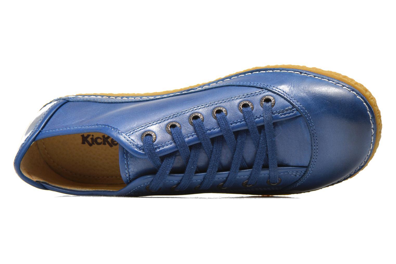 Schnürschuhe Kickers Hollyday blau ansicht von links