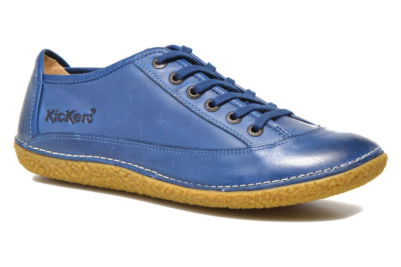 Chaussures à lacets Kickers Hollyday Bleu vue détail/paire