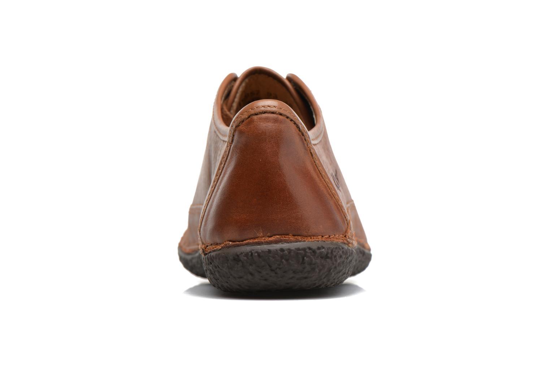 Zapatos con cordones Kickers Hollyday Marrón vista lateral derecha