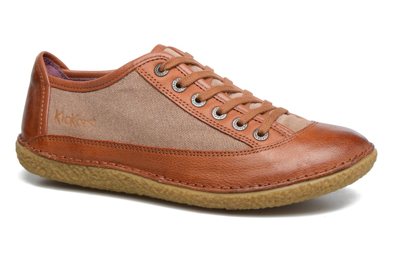 Zapatos con cordones Kickers Hollyday Marrón vista de detalle / par