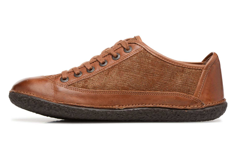 Snörade skor Kickers Hollyday Brun bild från framsidan