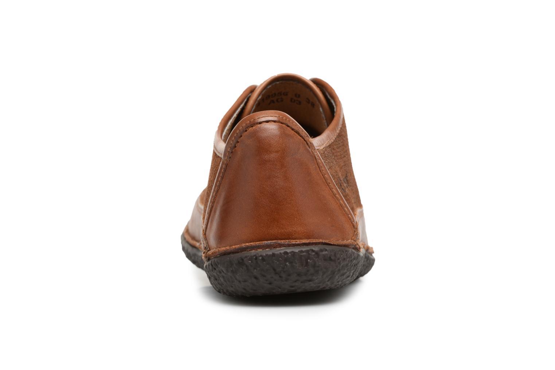 Snörade skor Kickers Hollyday Brun Bild från höger sidan