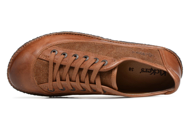 Snörade skor Kickers Hollyday Brun bild från vänster sidan