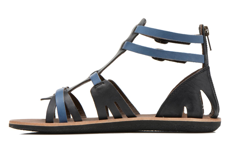 Sandales et nu-pieds Kickers Spartiaten Noir vue face