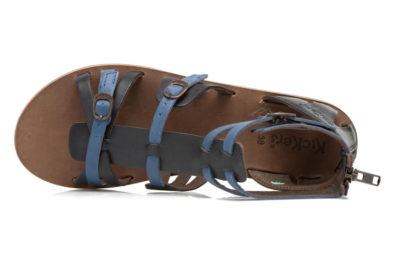 Sandales et nu-pieds Kickers Spartiaten Noir vue gauche