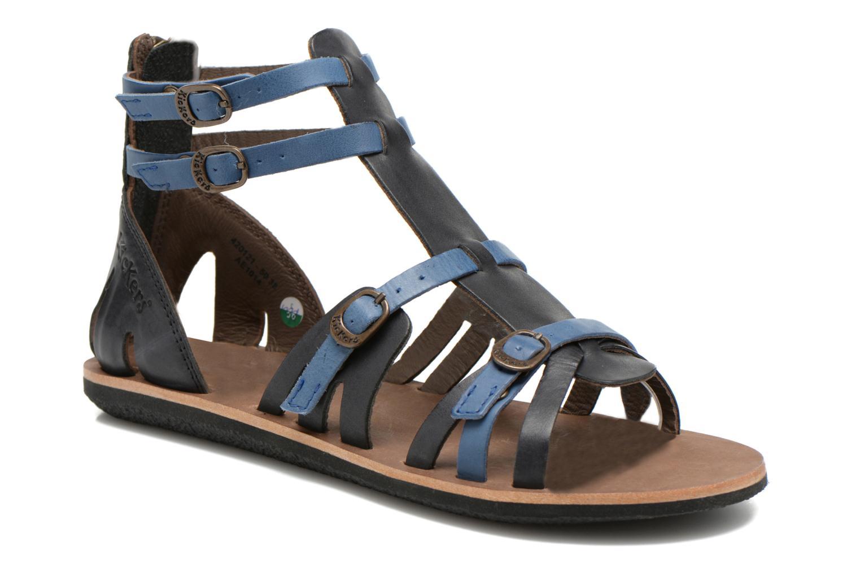 Sandalen Kickers Spartiaten schwarz detaillierte ansicht/modell