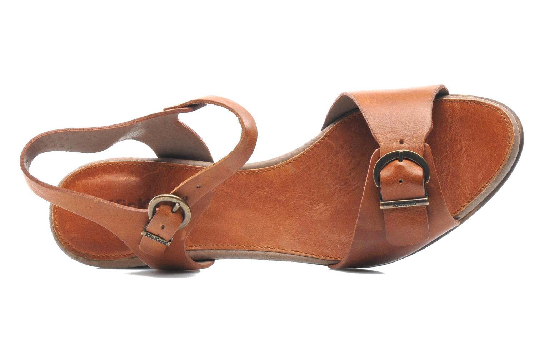 Sandales et nu-pieds Kickers Seatdown Marron vue gauche