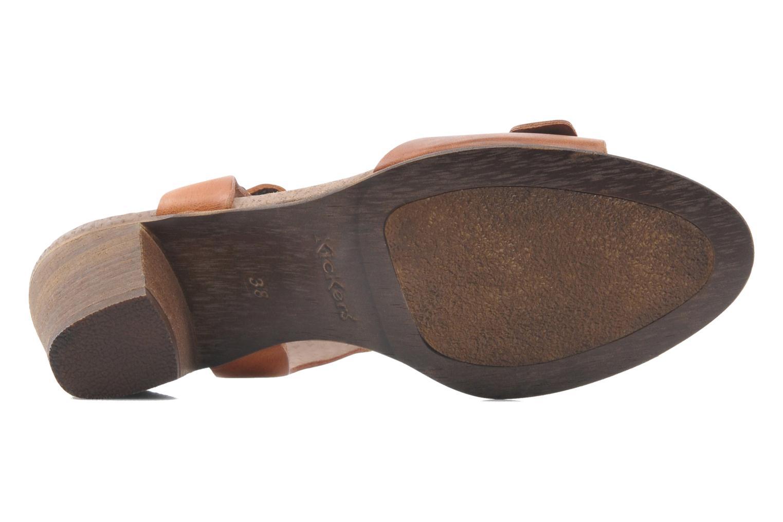 Sandales et nu-pieds Kickers Seatdown Marron vue haut