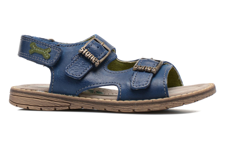 Sandales et nu-pieds Stones and Bones Dardo Bleu vue derrière