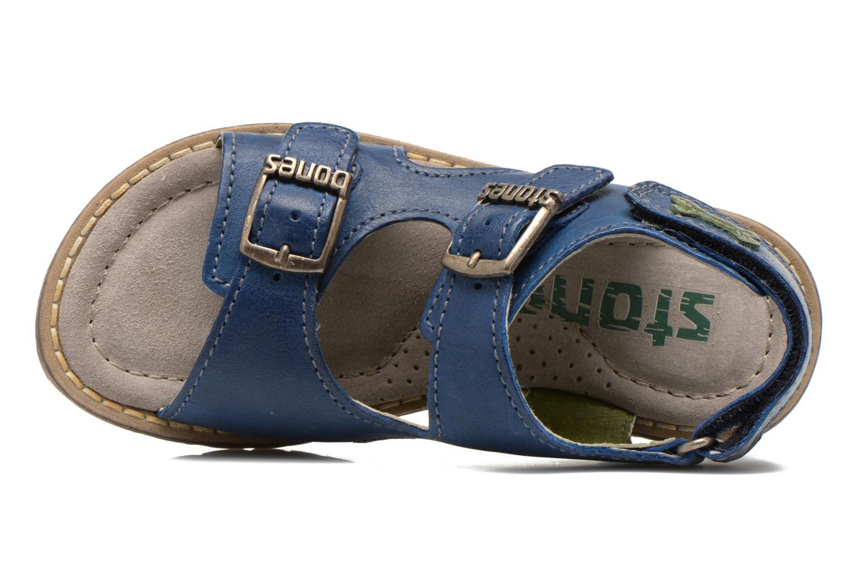 Sandales et nu-pieds Stones and Bones Dardo Bleu vue gauche
