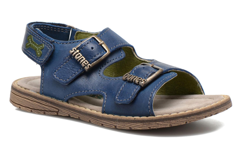 Sandales et nu-pieds Stones and Bones Dardo Bleu vue détail/paire