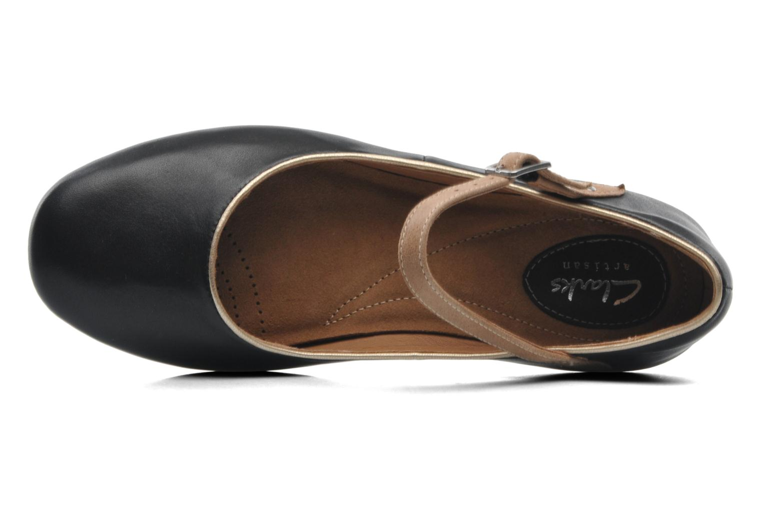 Ballet pumps Clarks Feature Film Black view from the left