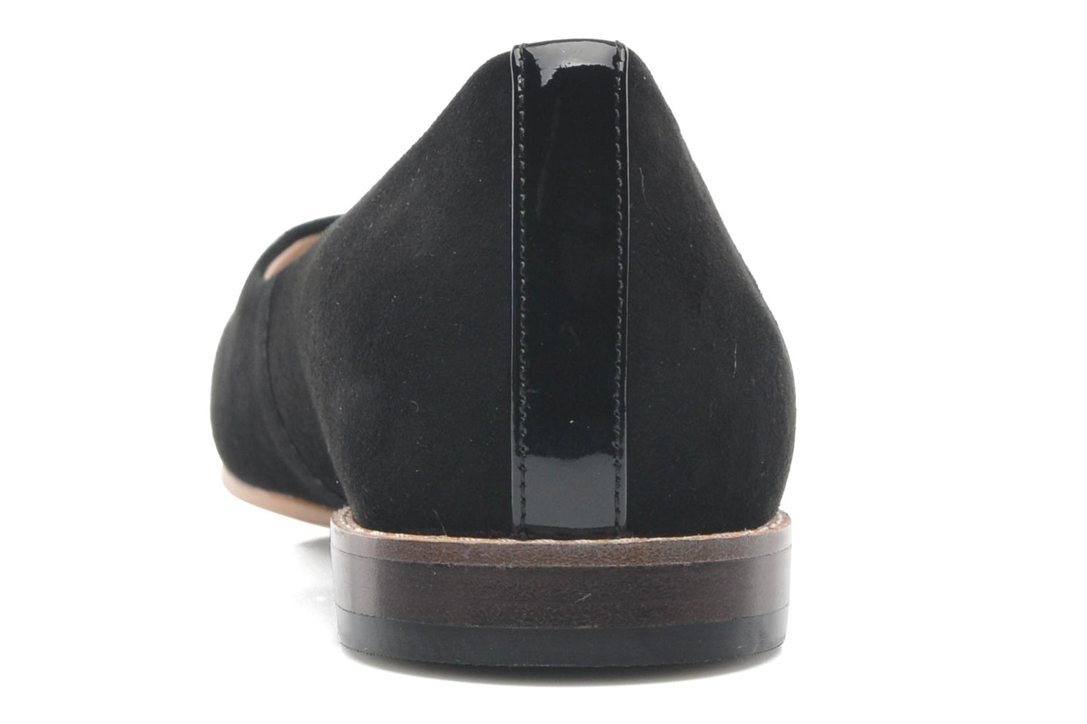 Ballet pumps Clarks Festival Gold Black view from the right