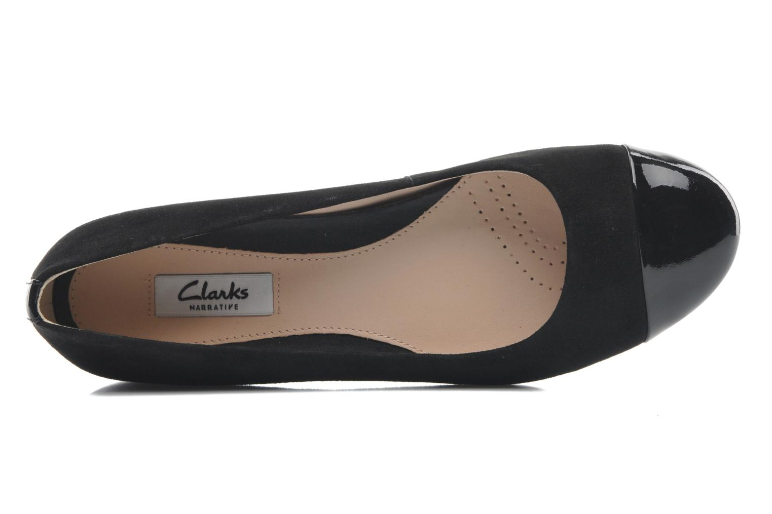 Ballet pumps Clarks Festival Gold Black view from the left