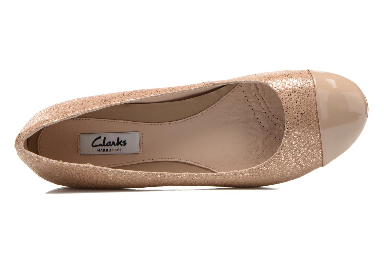 Ballerina's Clarks Festival Gold Goud en brons links