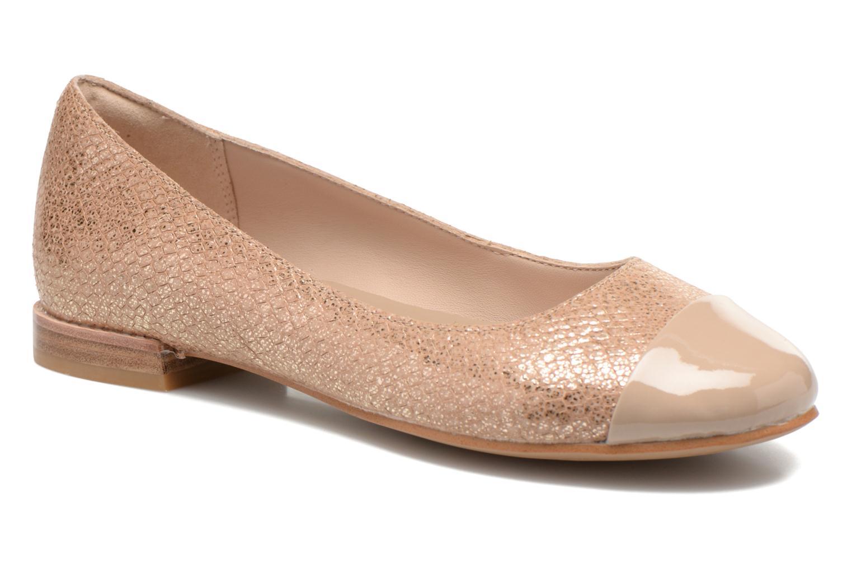 Ballerinaer Clarks Festival Gold Guld og bronze detaljeret billede af skoene