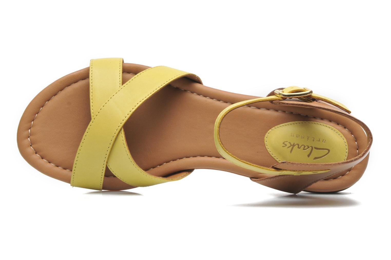 Sandali e scarpe aperte Clarks Viveca Zeal Giallo immagine sinistra