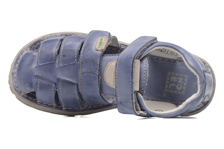 Sandales et nu-pieds Noël BOON Bleu vue gauche