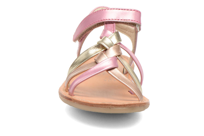 Sandalen Noël Strass rosa schuhe getragen