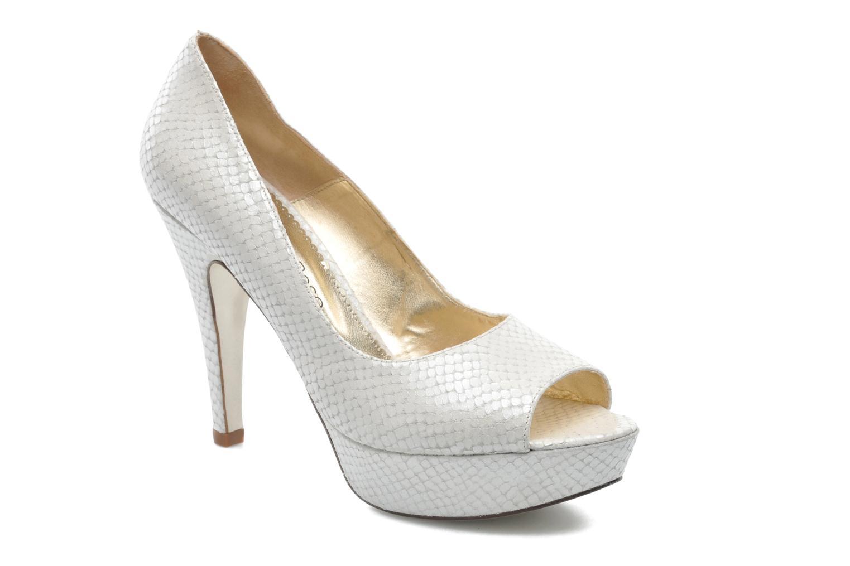 High heels Georgia Rose Ruliebdich White detailed view/ Pair view