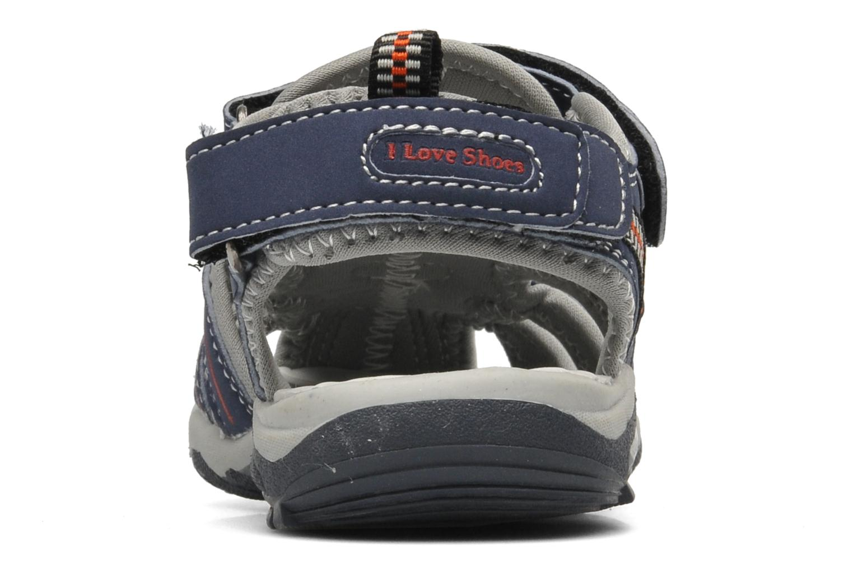 Sandalen I Love Shoes Oliv blau ansicht von rechts