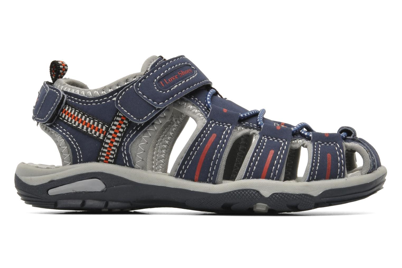 Sandalen I Love Shoes Oliv blau ansicht von hinten