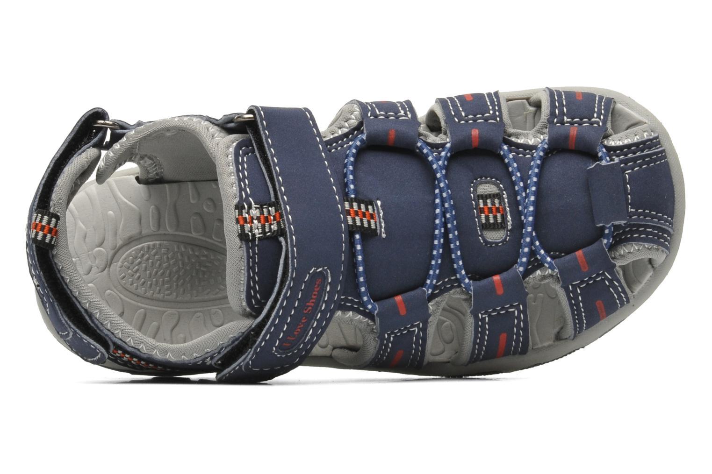 Sandalen I Love Shoes Oliv blau ansicht von links