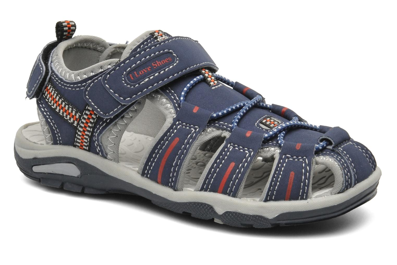 Sandalen I Love Shoes Oliv blau detaillierte ansicht/modell