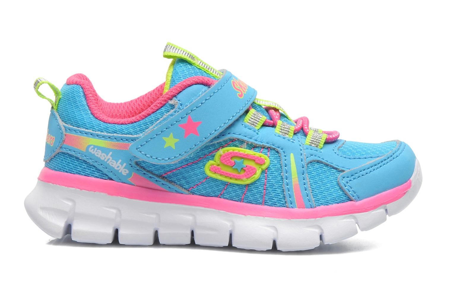 Trainers Skechers Synergy Lovespun Blue back view