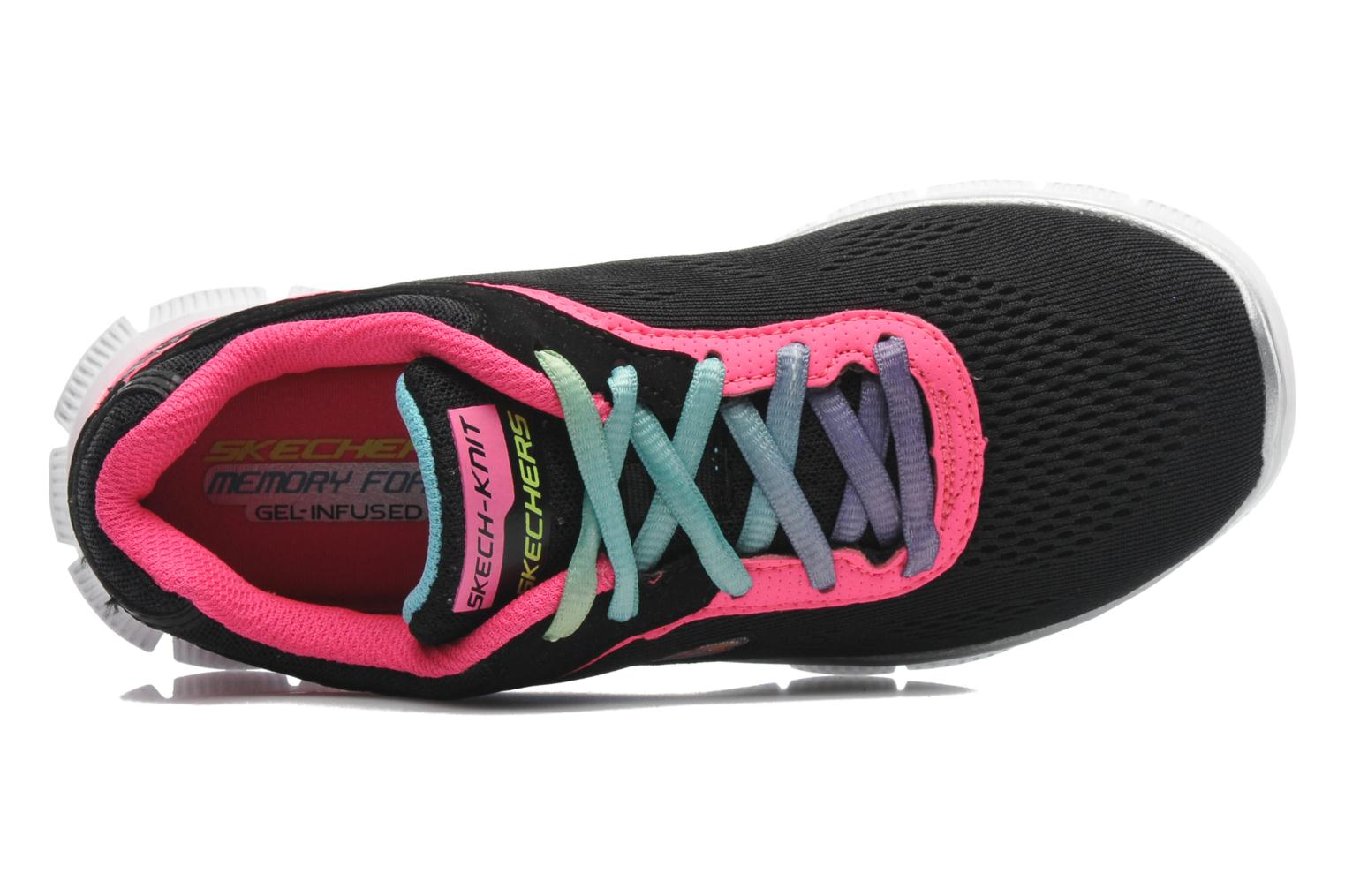 Trainers Skechers Skech Appeal Whimzies Black view from the left