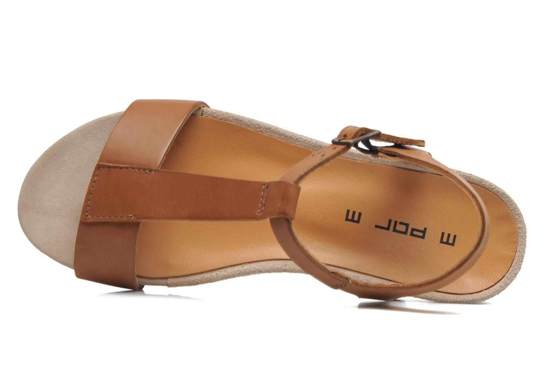Sandales et nu-pieds M PAR M Hodal Marron vue gauche