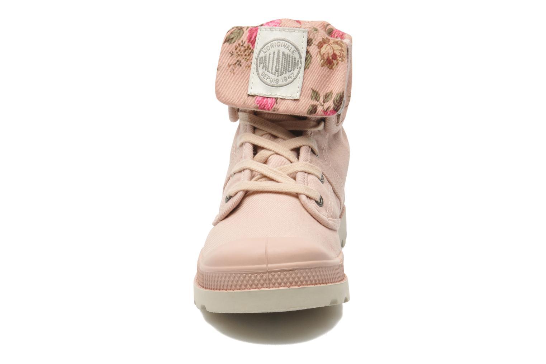 Bottines et boots Palladium Baggy Twl K Rose vue portées chaussures