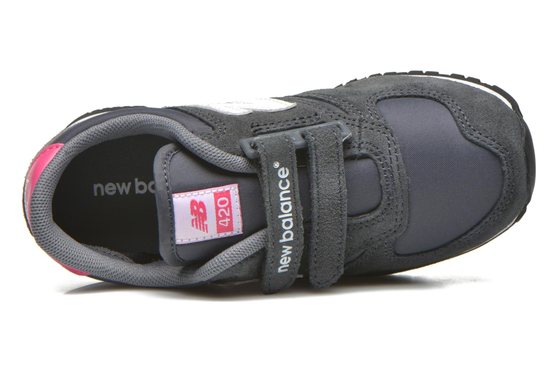 Sneaker New Balance KE420 J grau ansicht von links